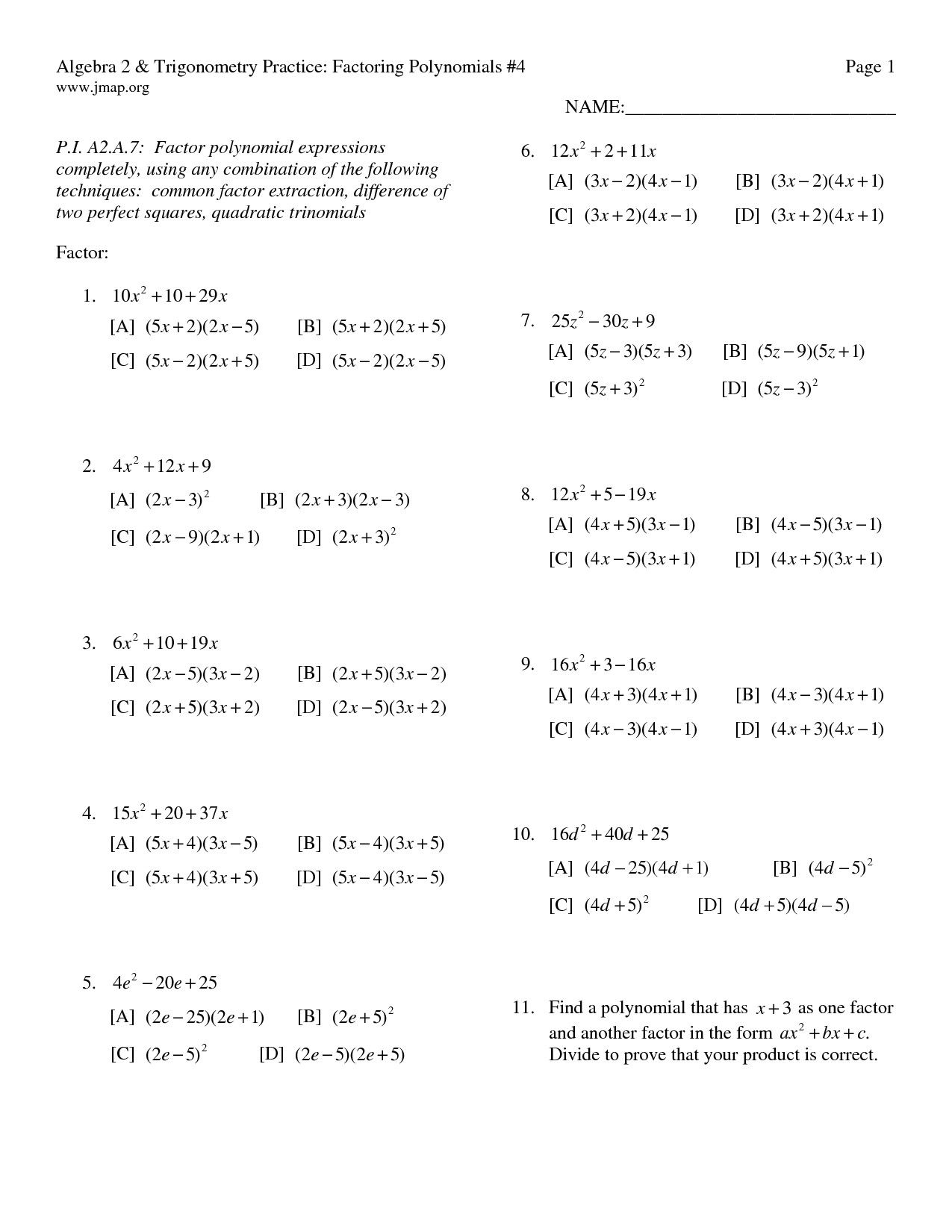 Solving Simple Quadratic Equations Worksheet