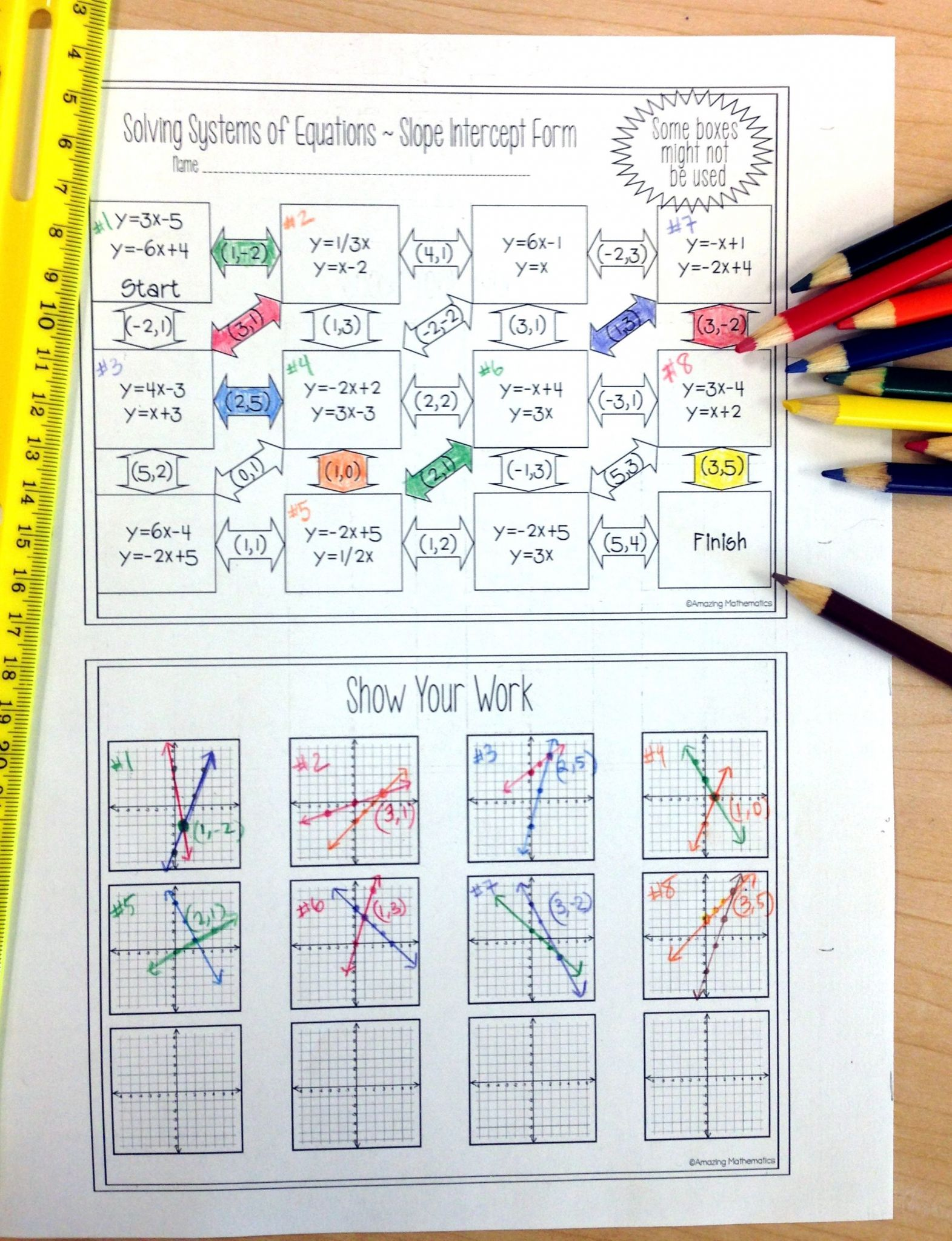 Solving Systems Of Equations Algebraically Worksheet
