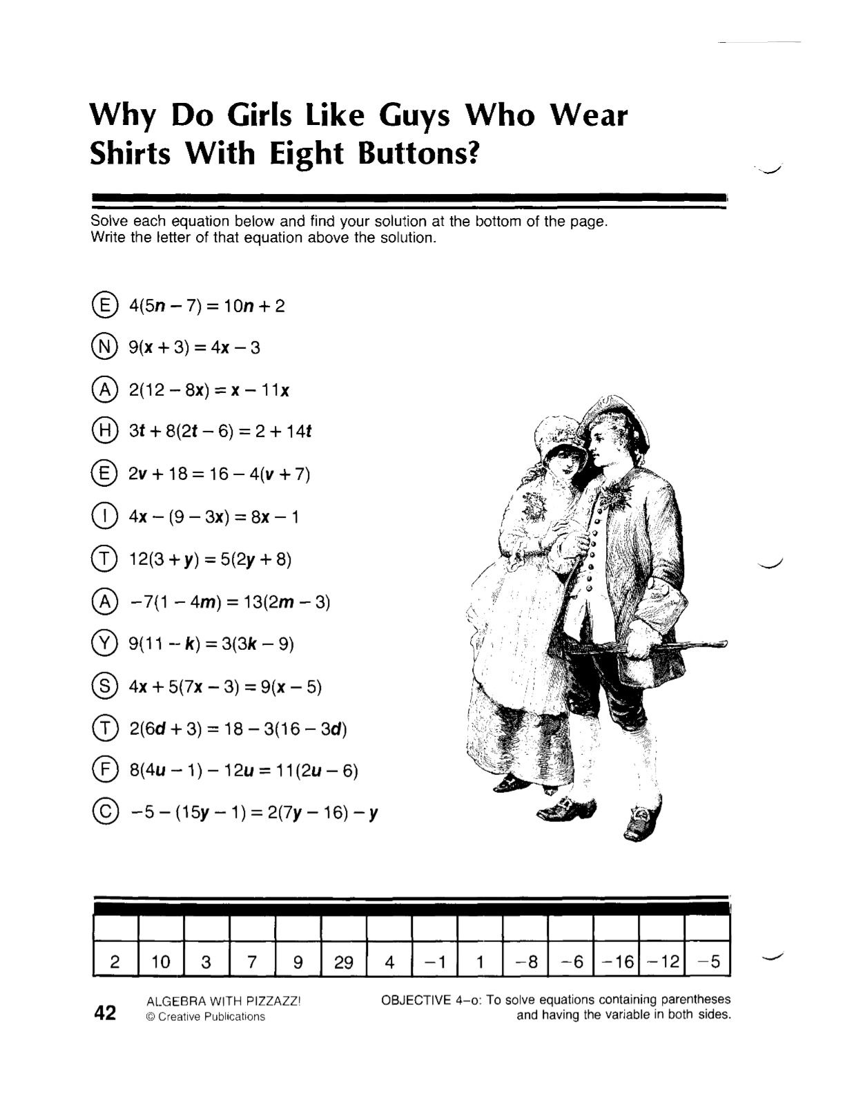 Solving Two Step Inequalities Worksheet