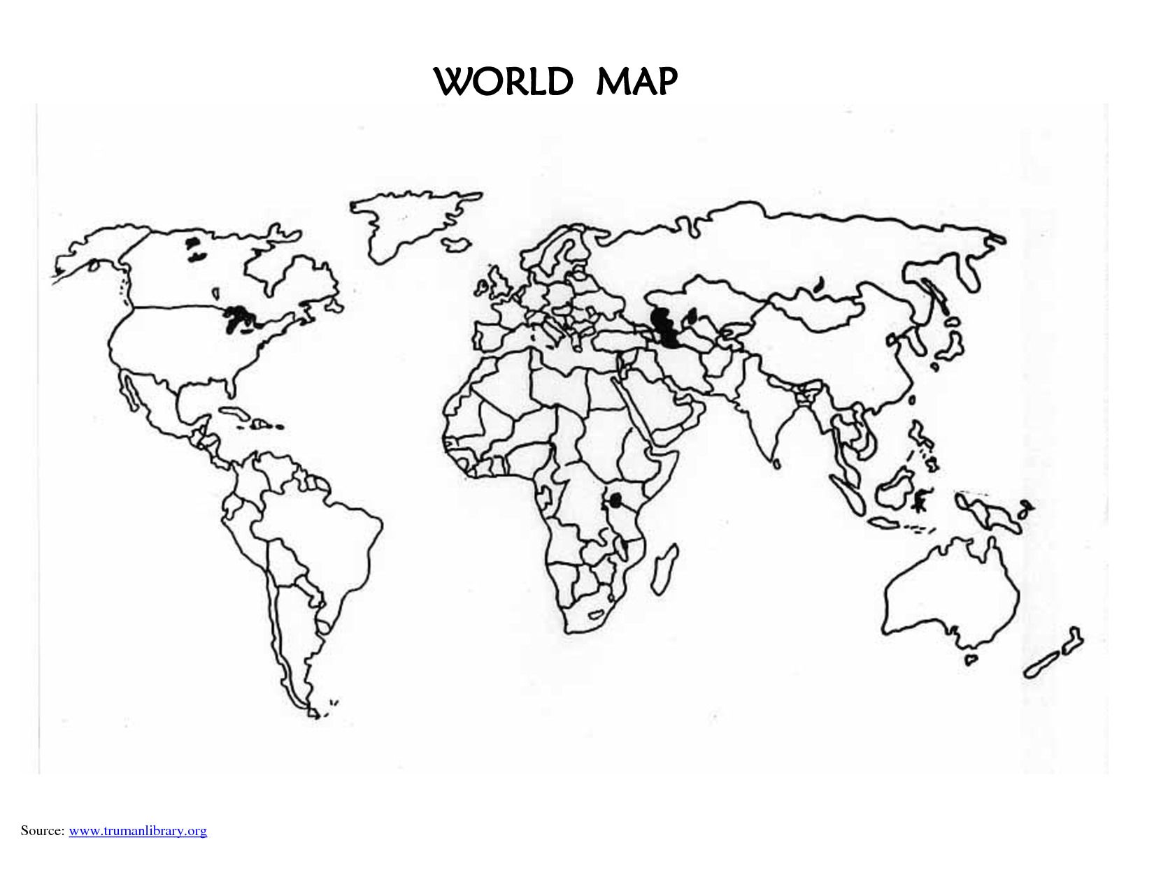 hight resolution of Blank Map Of Spanish Speaking Countries - World Map Atlas