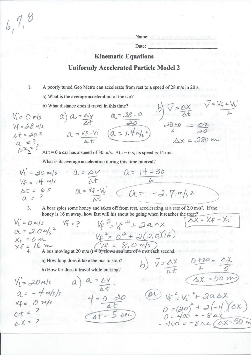 medium resolution of 29 Speed Velocity Acceleration Worksheet Answer Key - Worksheet Resource  Plans