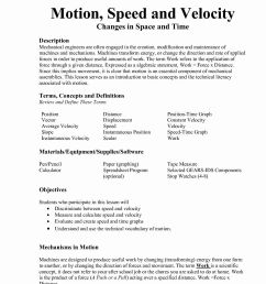 Calculate Velocity Worksheet   Printable Worksheets and Activities for  Teachers [ 1650 x 1275 Pixel ]