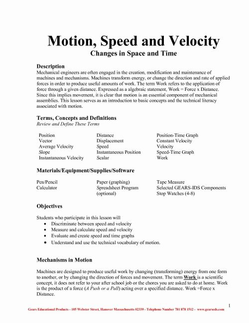 small resolution of Calculate Velocity Worksheet   Printable Worksheets and Activities for  Teachers