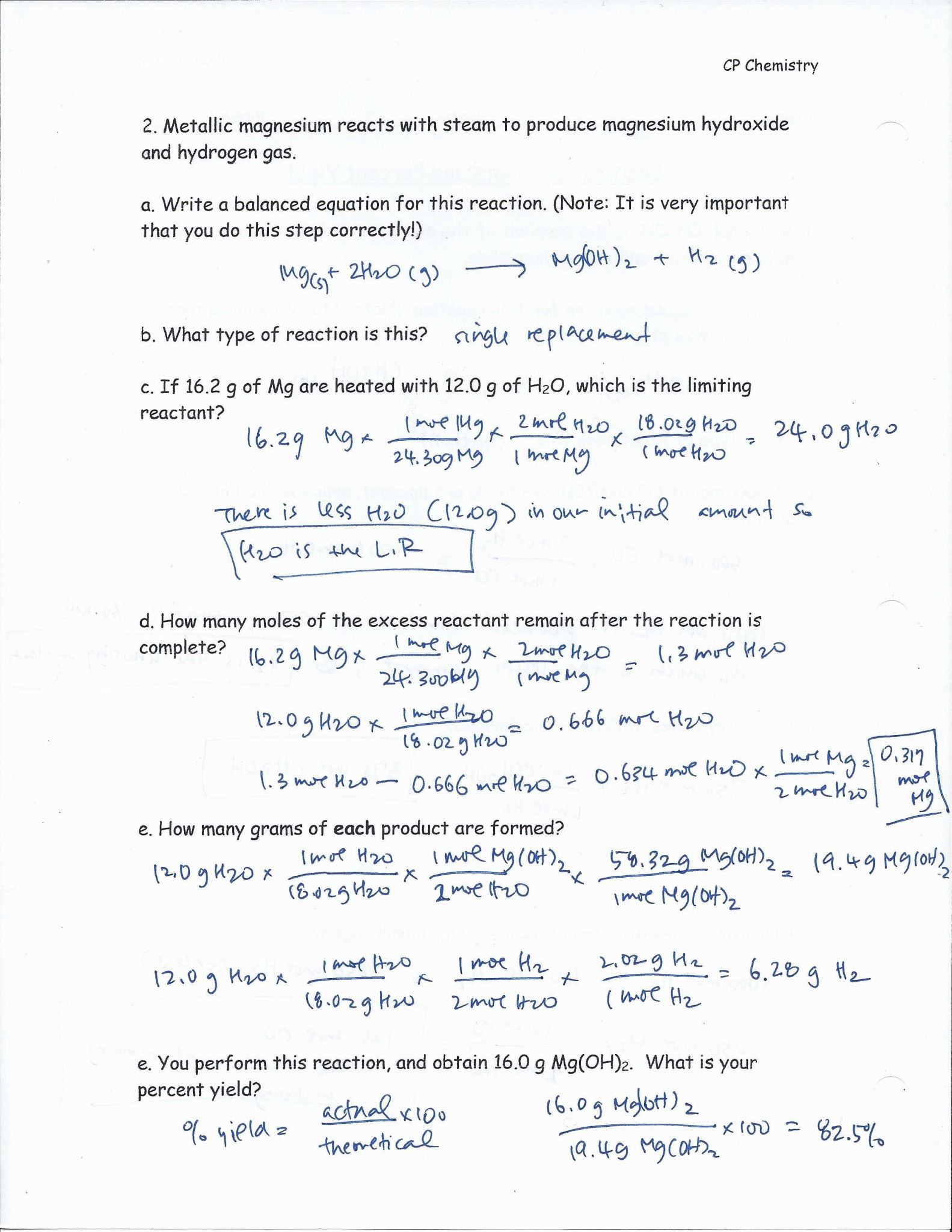 Mole Ratio Worksheet Chemistry Answers