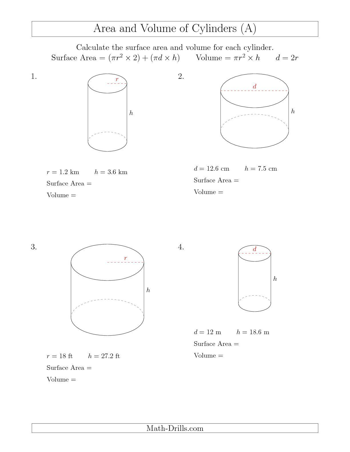hight resolution of Math Surface Area Worksheets   Printable Worksheets and Activities for  Teachers