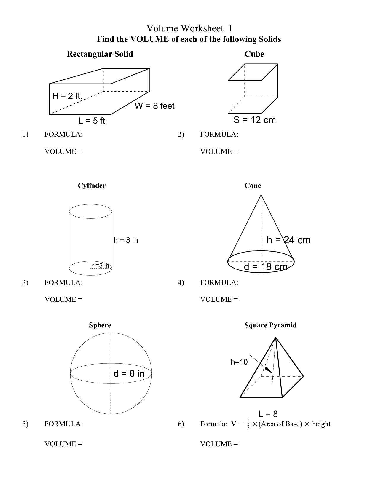 Surface Area Of Prisms And Cylinders Worksheet Answers