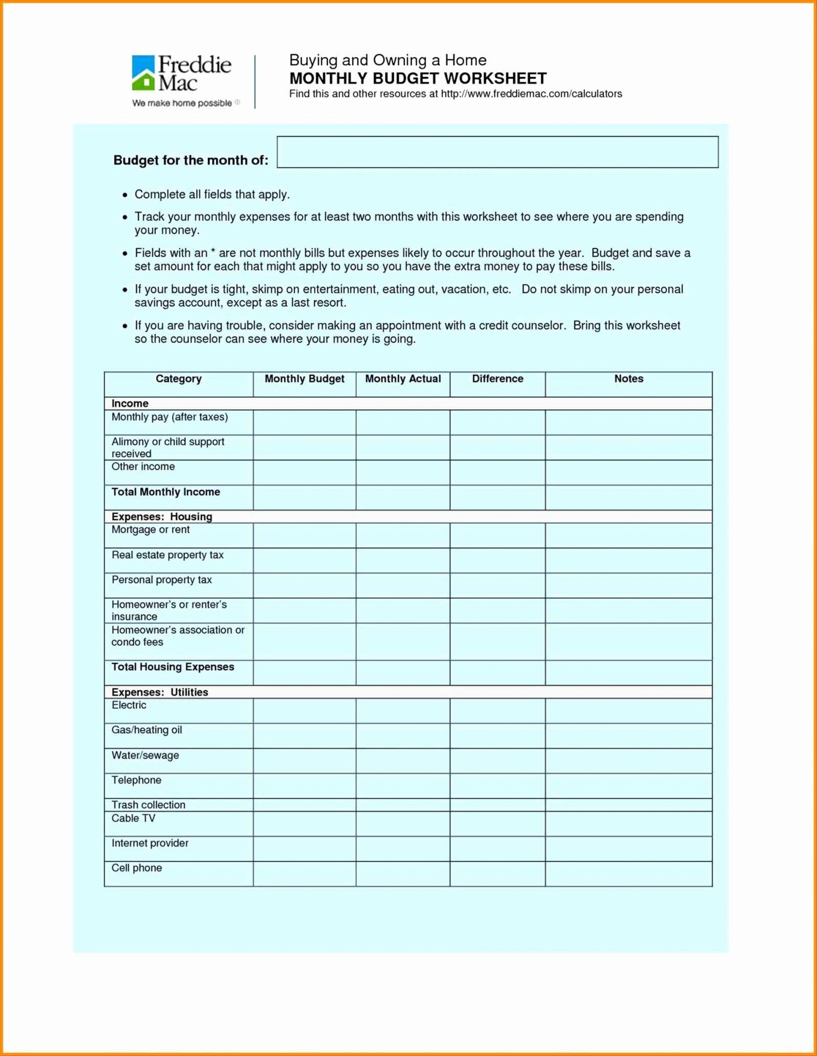 Suze Orman Worksheets