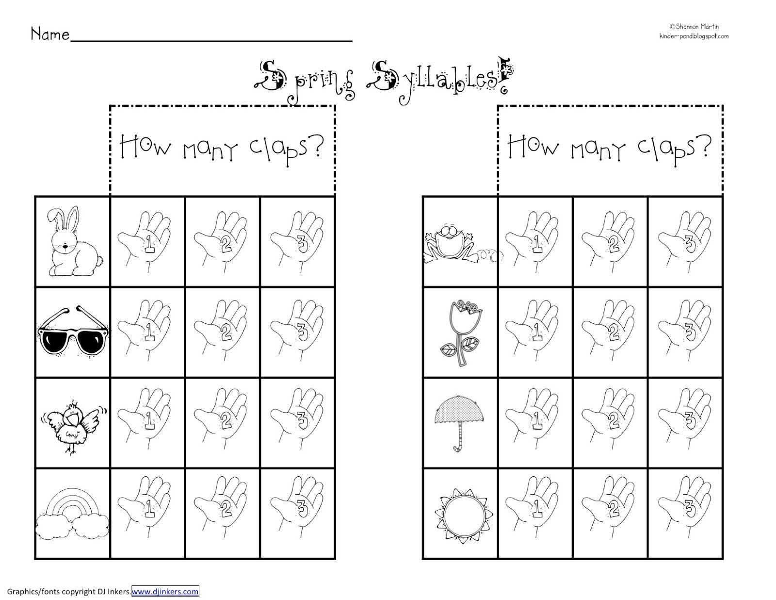 Syllabication Worksheets