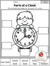 math clock games worksheets autumn grade no prep telling time activities and