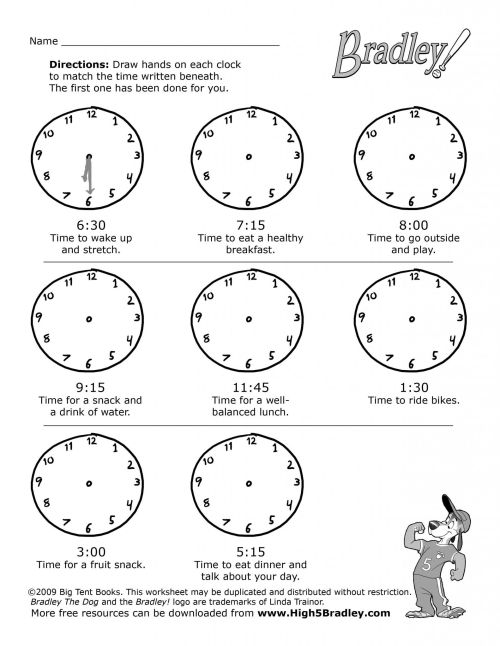 small resolution of Telling Time Worksheet Third Grade   Printable Worksheets and Activities  for Teachers
