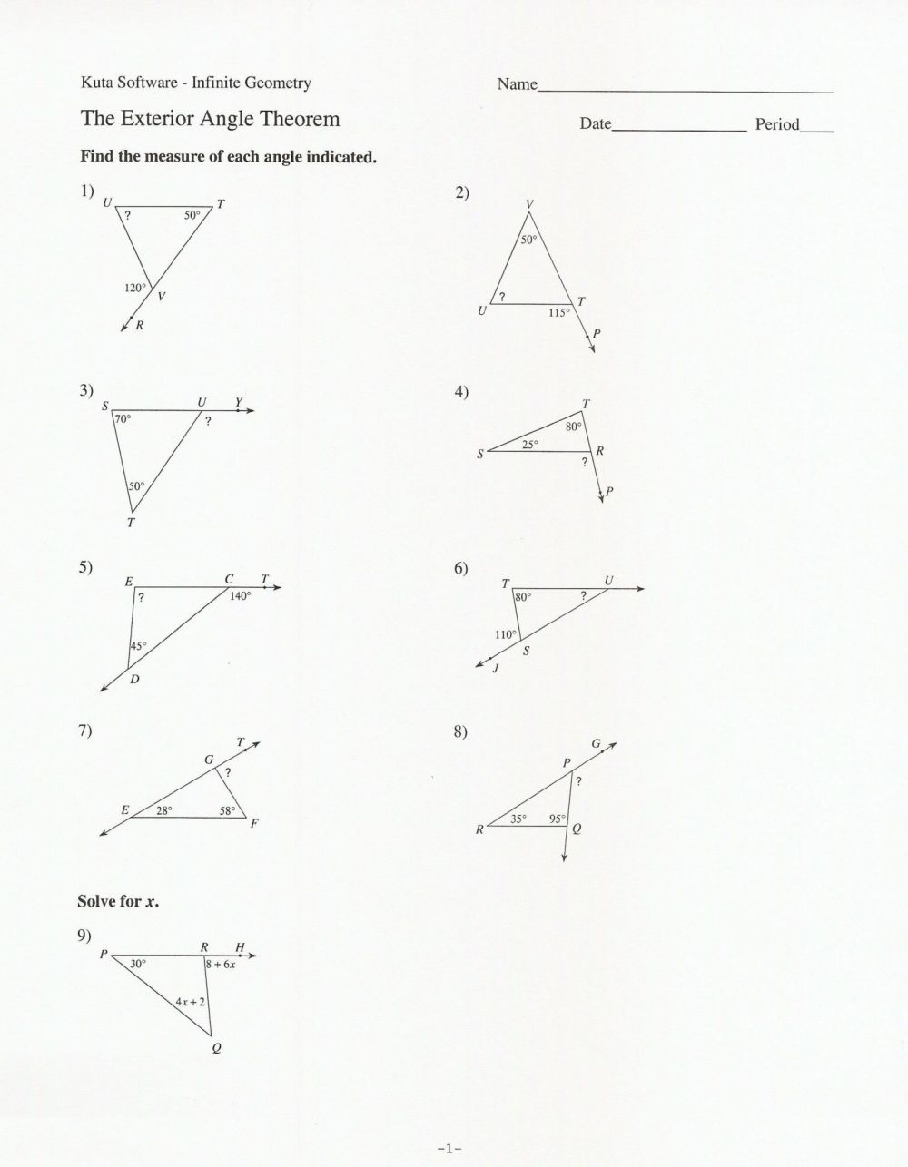 medium resolution of Triangle Interior Angles Worksheet Answers - Promotiontablecovers