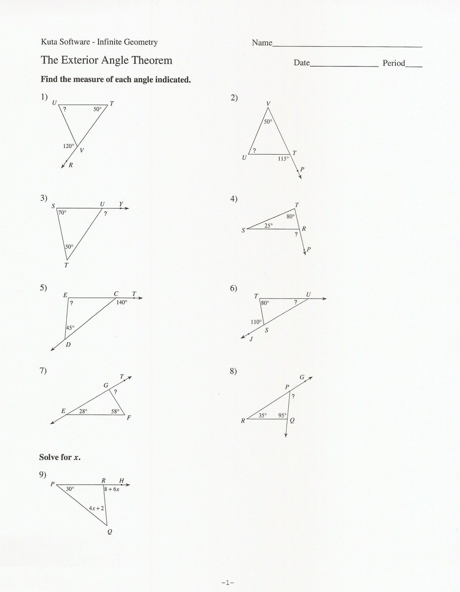 hight resolution of Triangle Interior Angles Worksheet Answers - Promotiontablecovers