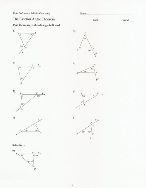 small resolution of Triangle Interior Angles Worksheet Answers - Promotiontablecovers
