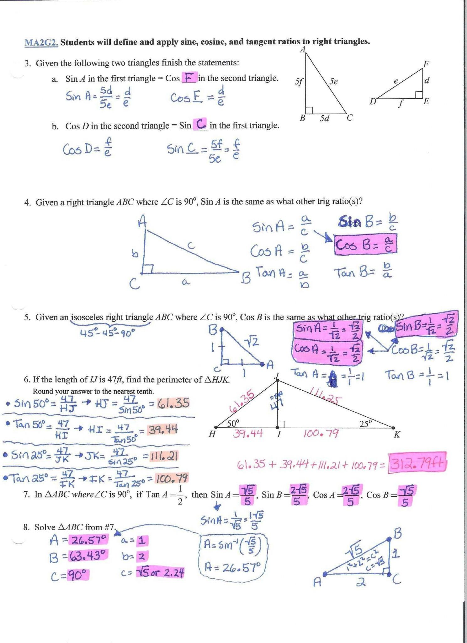 Printables Of Angles Word Problems Worksheet