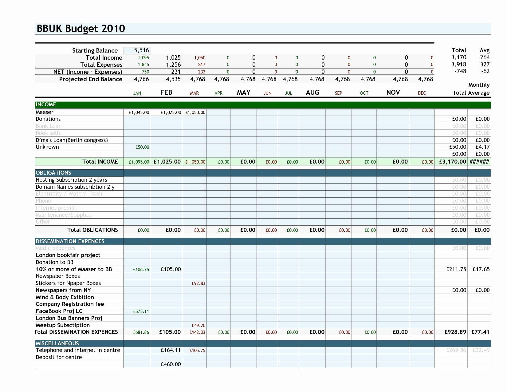 Truck Driver Expenses Worksheet