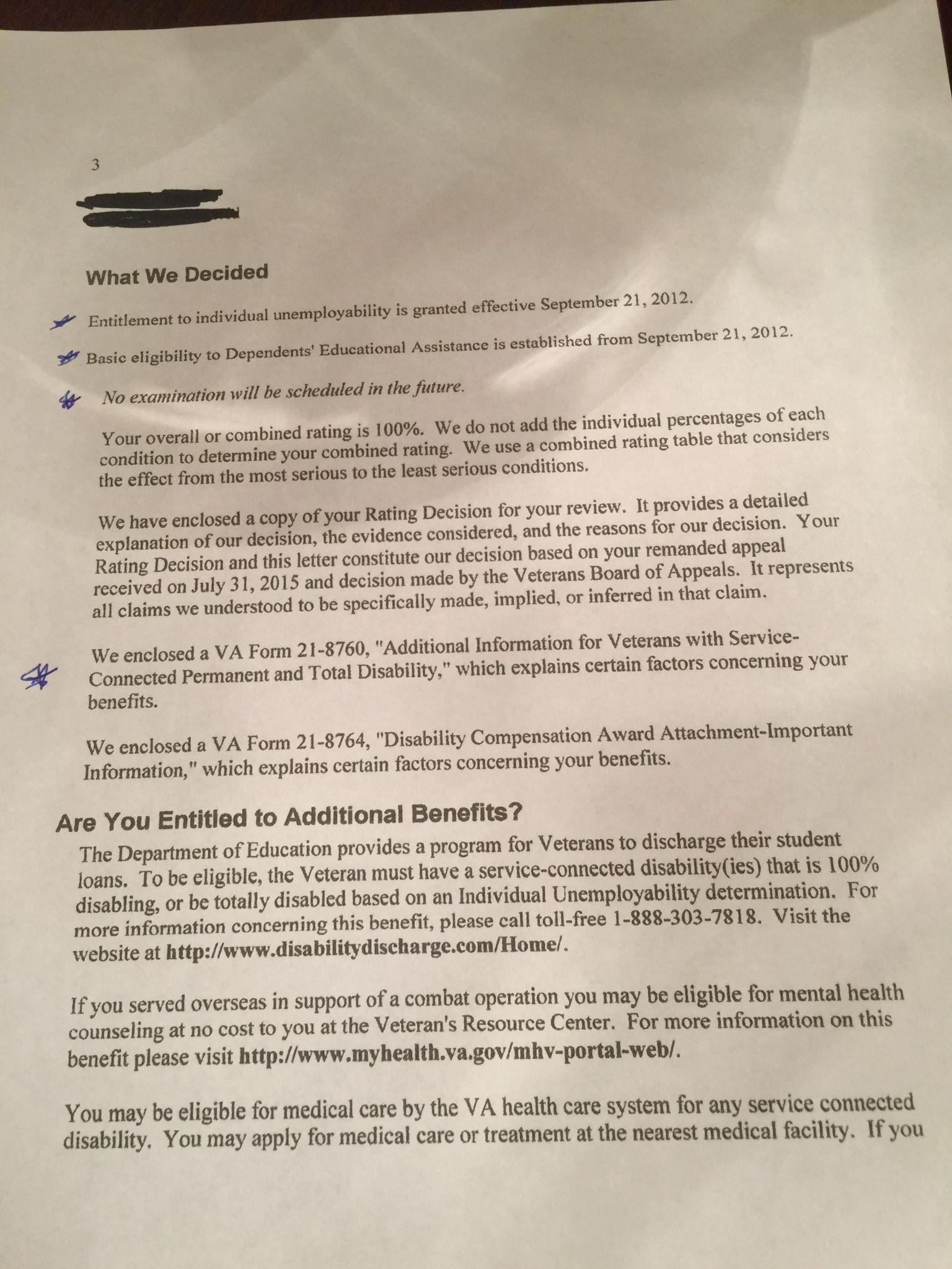Va Entitlement Worksheet
