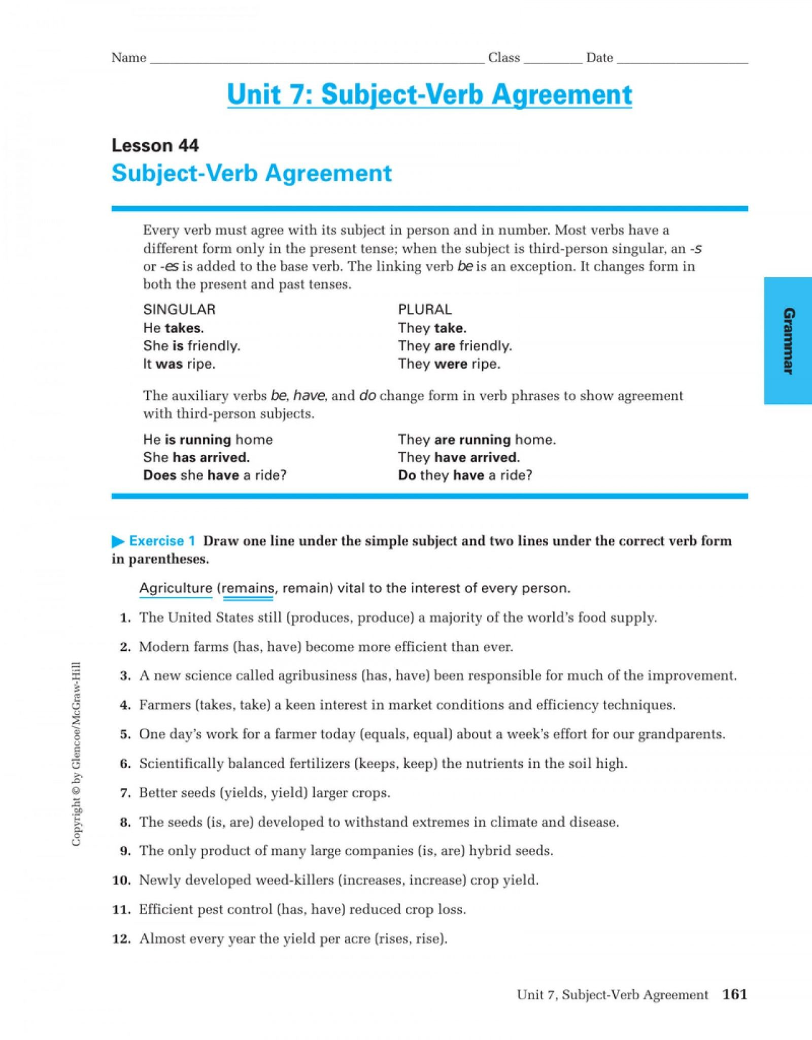 Verb To Be Worksheets For Adults