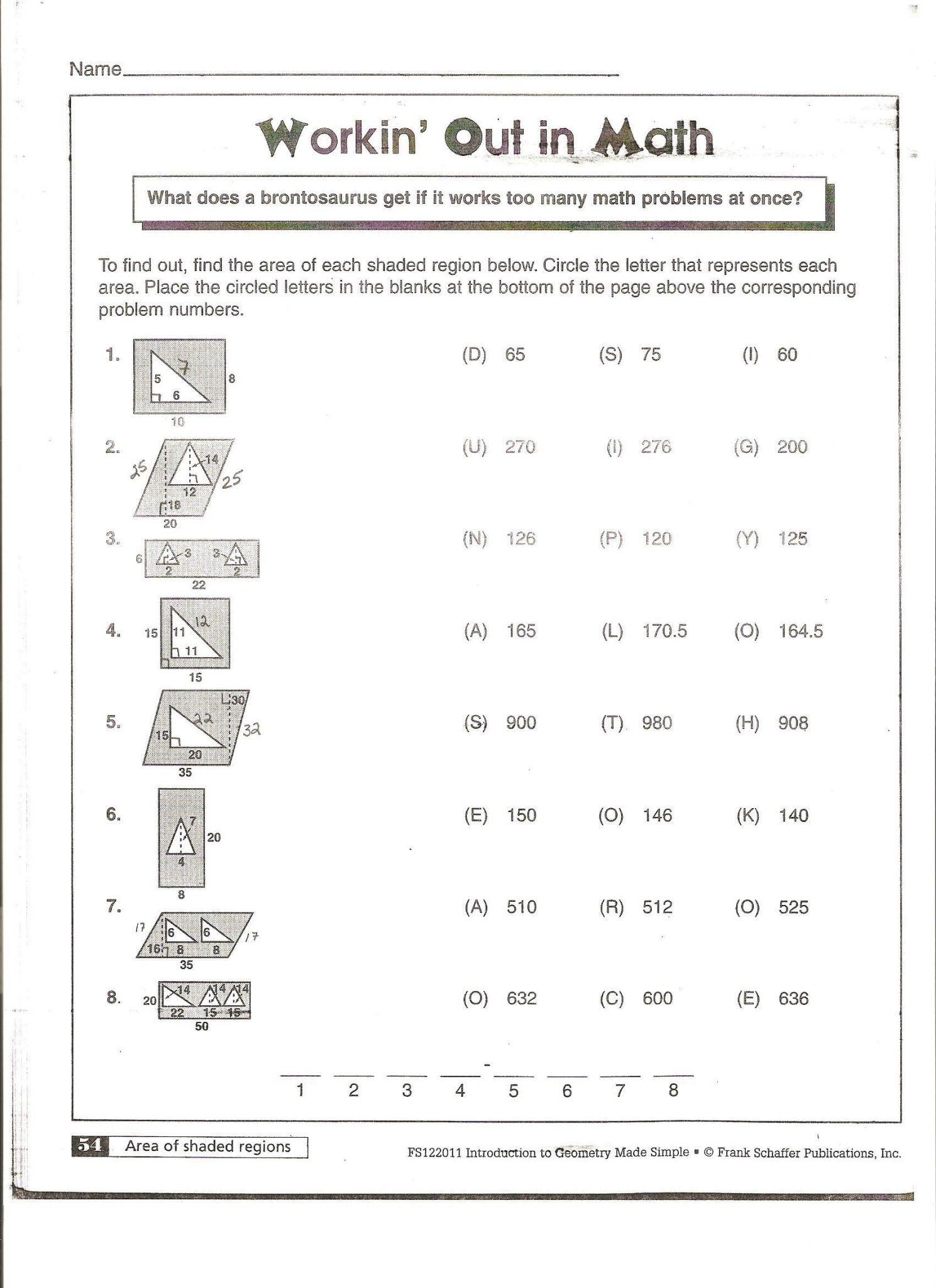 Volume Of Prisms Worksheet