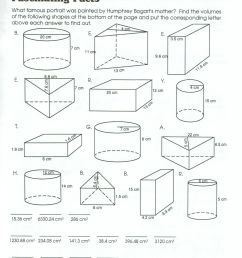 Volume And Surface Area Worksheets Pdf   Printable Worksheets and  Activities for Teachers [ 1615 x 1240 Pixel ]