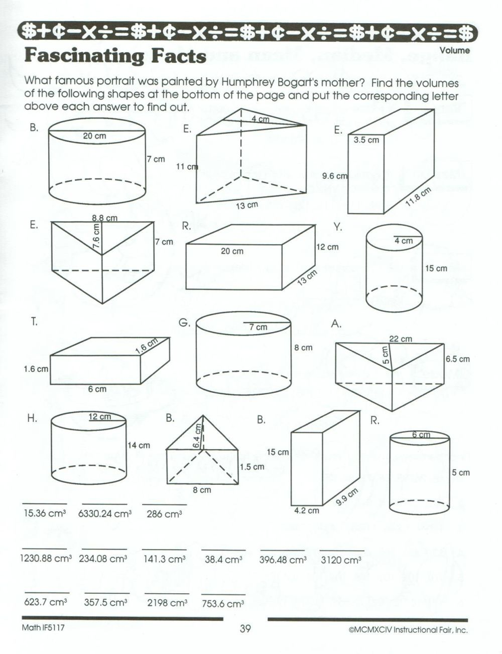 medium resolution of Volume And Surface Area Worksheets Pdf   Printable Worksheets and  Activities for Teachers