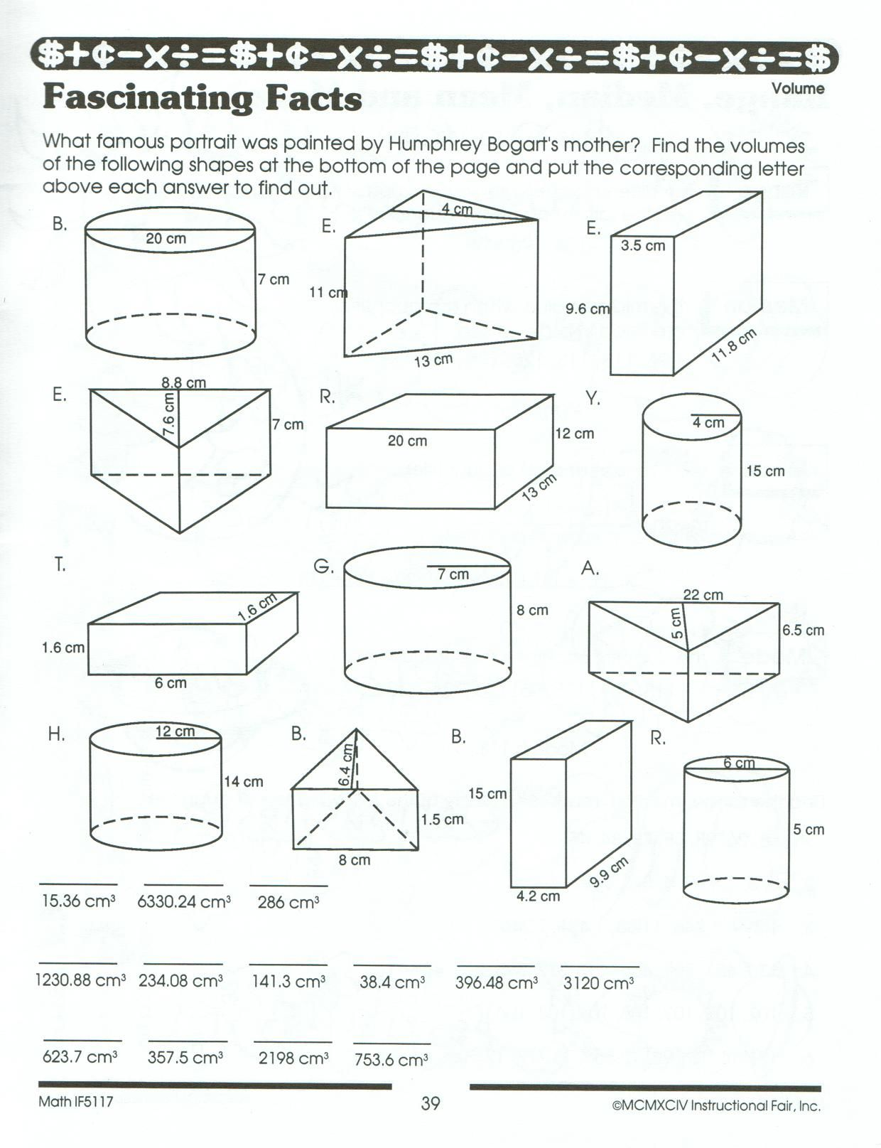hight resolution of Volume And Surface Area Worksheets Pdf   Printable Worksheets and  Activities for Teachers