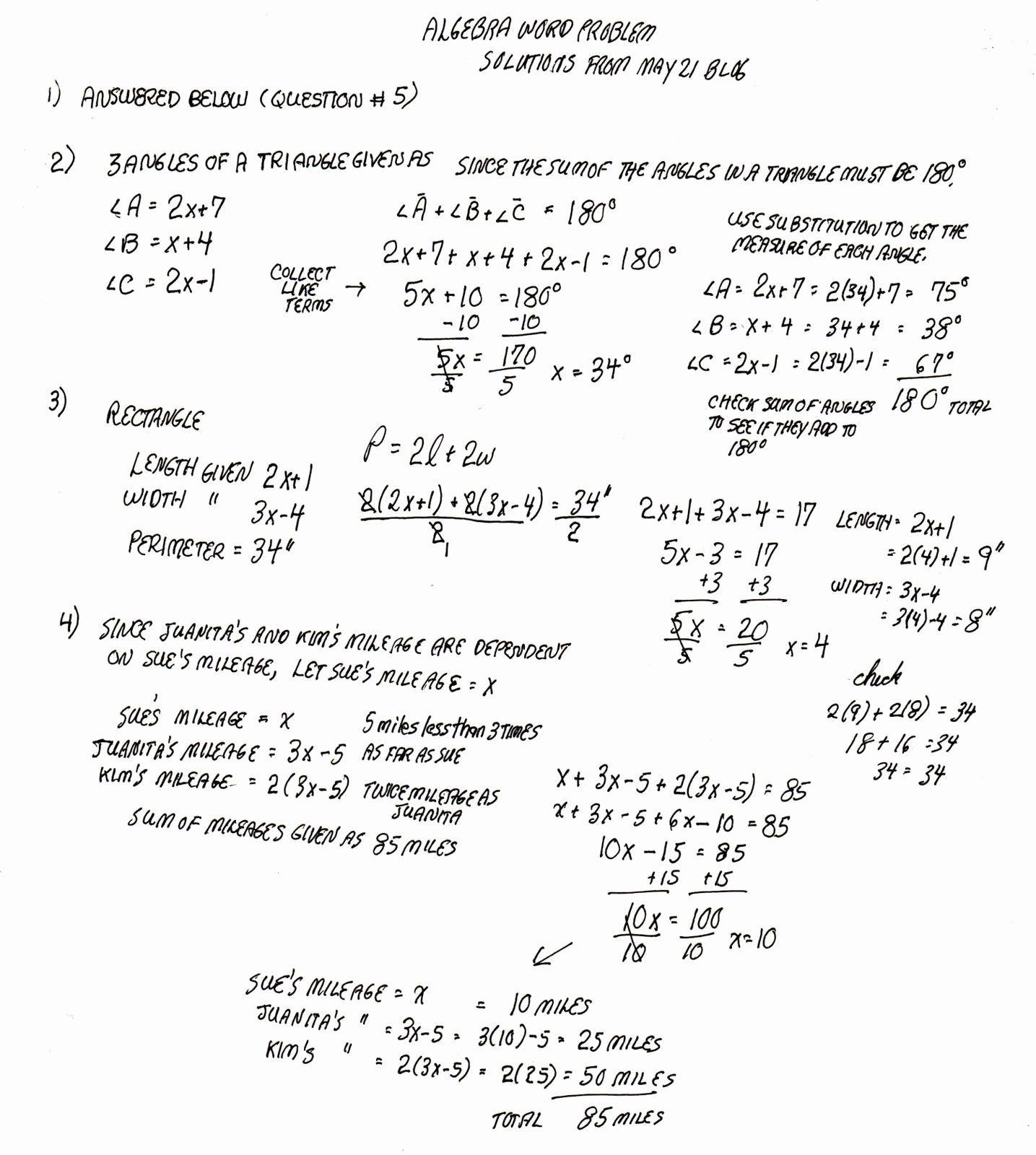 Word Equations Worksheet