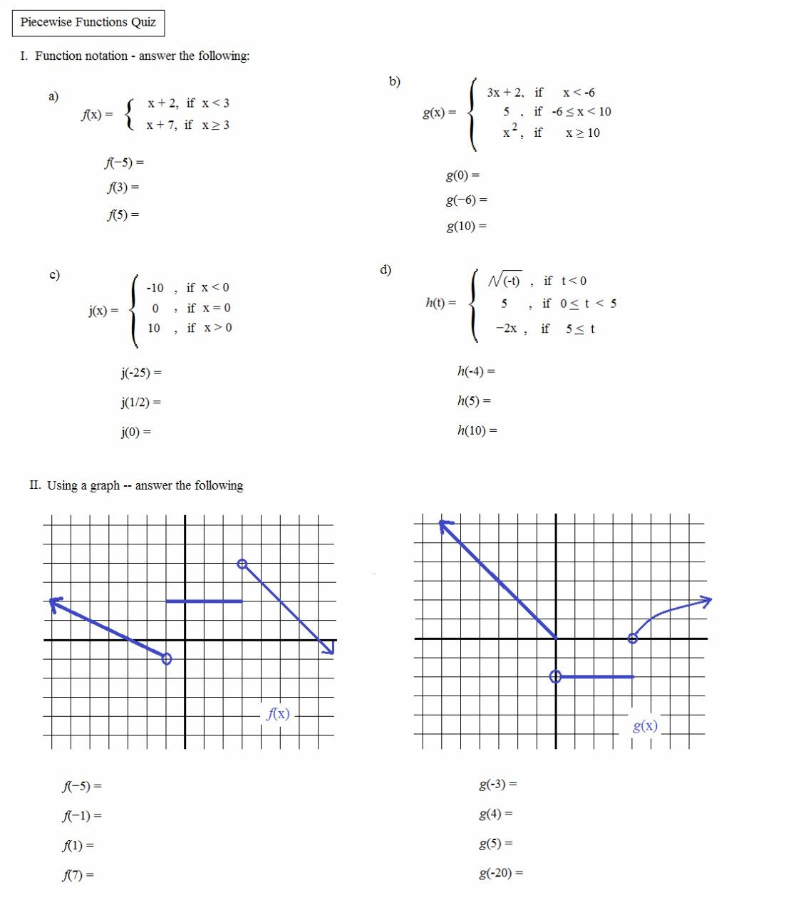 Worksheet For Algebra 2
