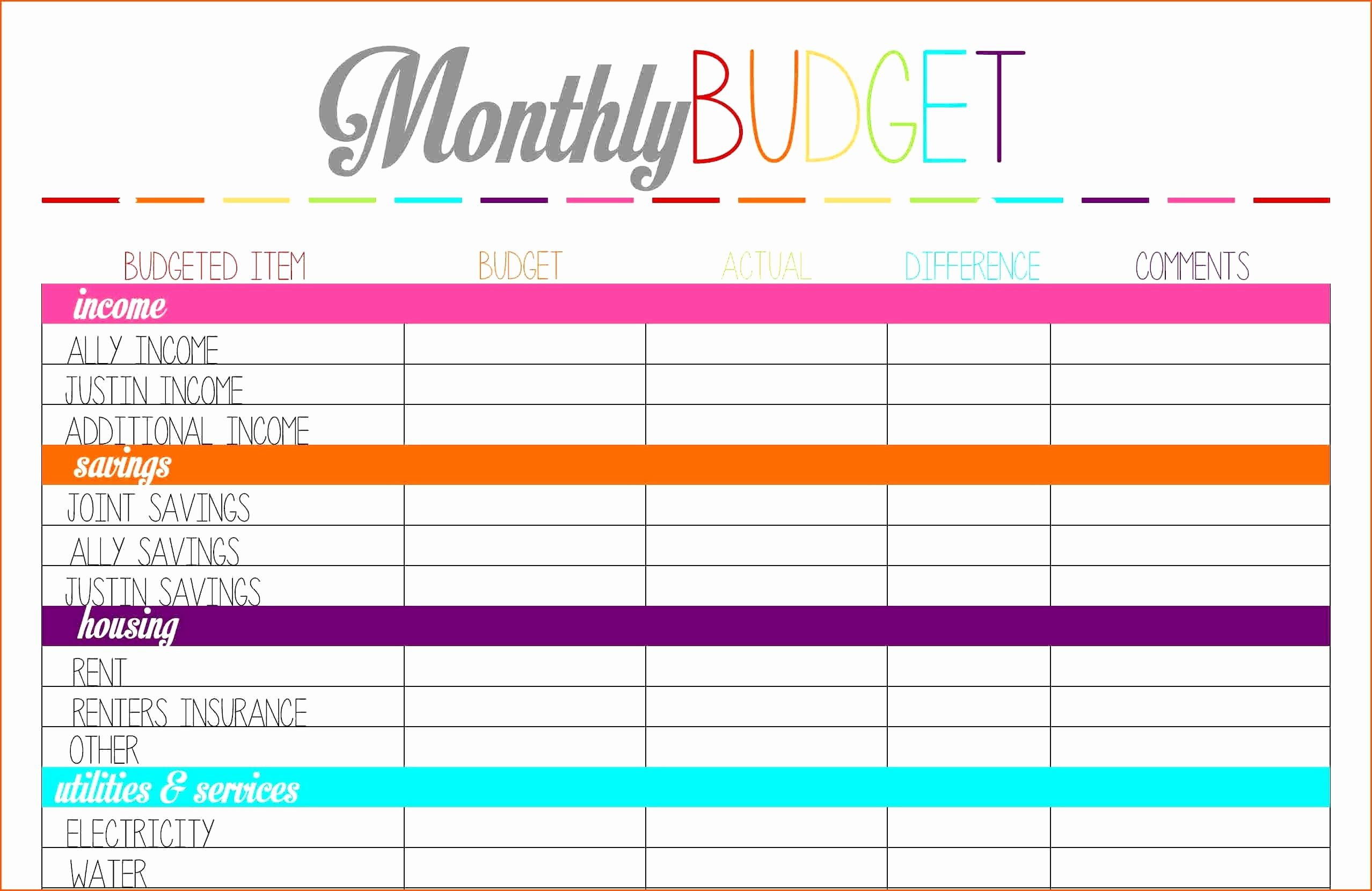 Youth Ministry Budget Worksheet