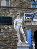 A copy of Michelangelo's 'David'