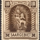 Briefmarkensammlung - Saargebiet 1925 Madonna von Blieskastel