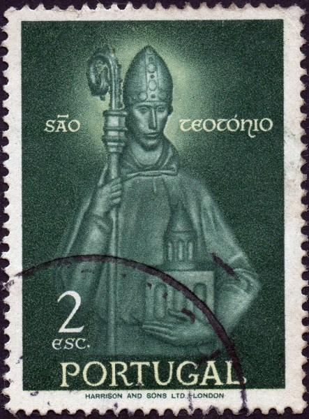Scan: Briefmarke aus Portugal, 1958, Heiliger Teotonius, auch São Teotónio genannt, 2 esc.