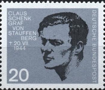Scan: Deutsche Bundespost - Claus Graf Schenk von Stauffenberg 1907-1944 - 20PF