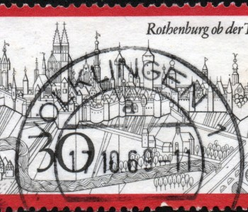 Deutsche Bundespost, 1969, Rothenburg ob der Tauber ('Fremdenverkehr (I)') - Nennwert 30 Pf.