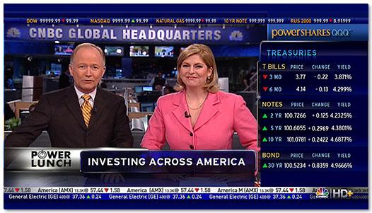 CNBC HD+ Screen