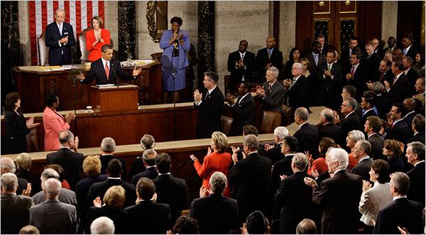 Barack Obama's Health Care Speech on 9/9/09 - Doug Mills/The New York Times