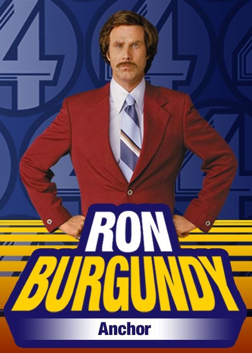 Will Ferrell as Ron Burgundy in Anchorman  - DreamWorks