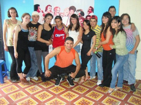 After a salsa class in Xela at a studio called La Clave!