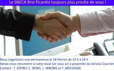 Permanence du Sneca à Amiens le 18 février prochain