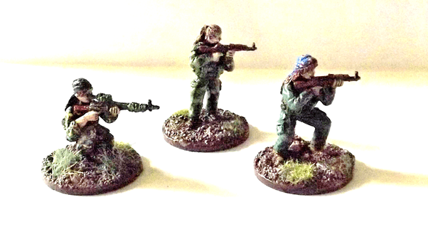 Picture of three insurgent miniatures