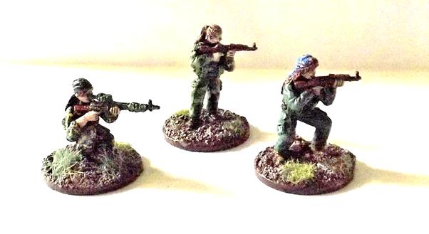 Picture of three insurgent miniatures