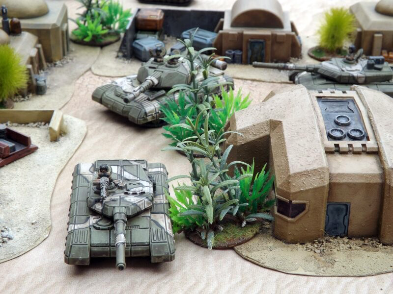 Picture of miniature tanks