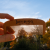 Briggs Beard Comb being held in front of the sun