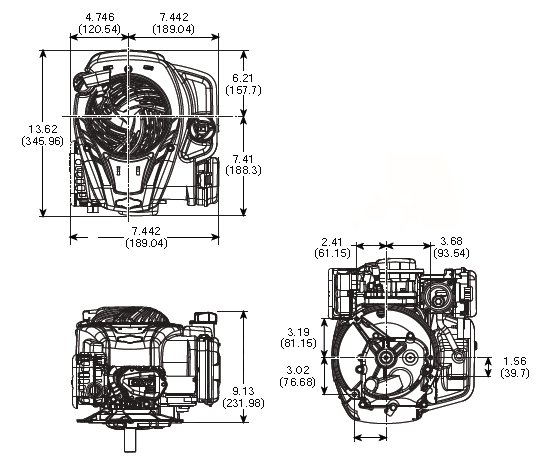 Briggs and Stratton 450E, 500, 550, 575, 600, Series