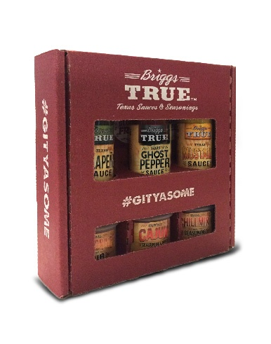 Briggs True sauces seasoning sample box