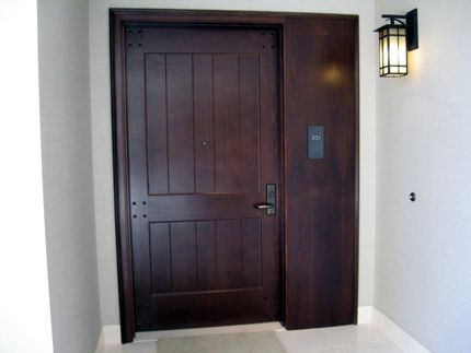 Front door to one of the residences on second floor