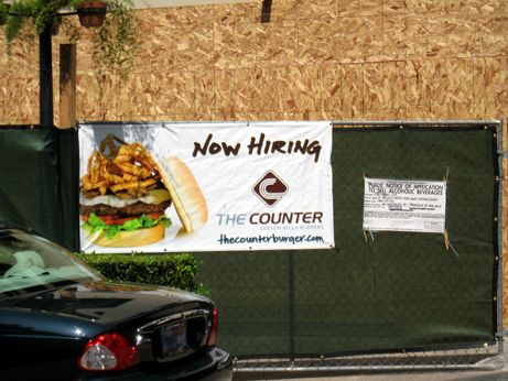 The Counter is hiring now, but it looks like several months before opening