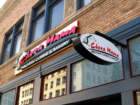 Replacing Hooters and providing a more unique food option for Old Town patrons, Choza Mama installed their new signage this week