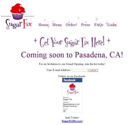 Sugar Fix Cupcakes will be opening in Old Pasadena at the corner of Green and Raymond