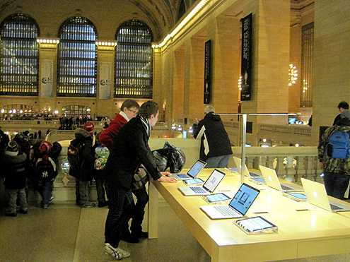 One of the largest and most unique Apple stores inside Grand Central Terminal