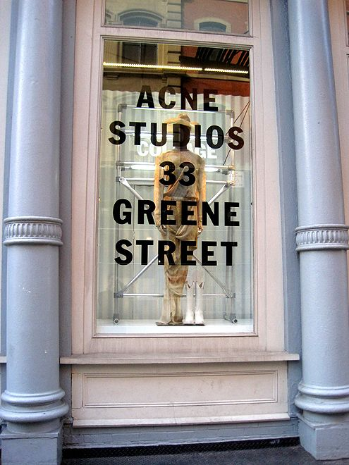 The only Acne Studios store in the US is currently in SoHo, New York, with plans to open their second location in Downtown LA